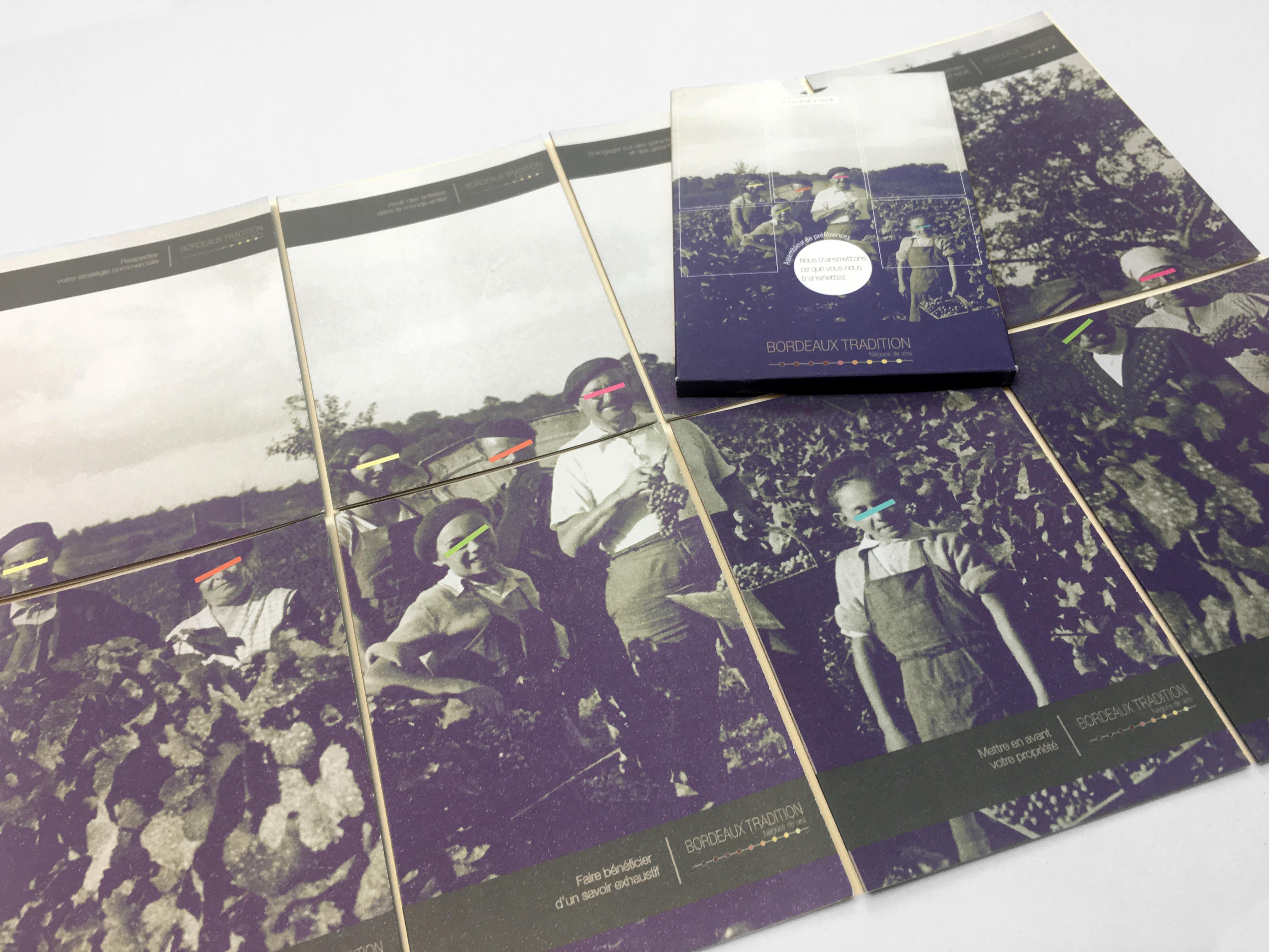 montage leaflets bordeaux tradition