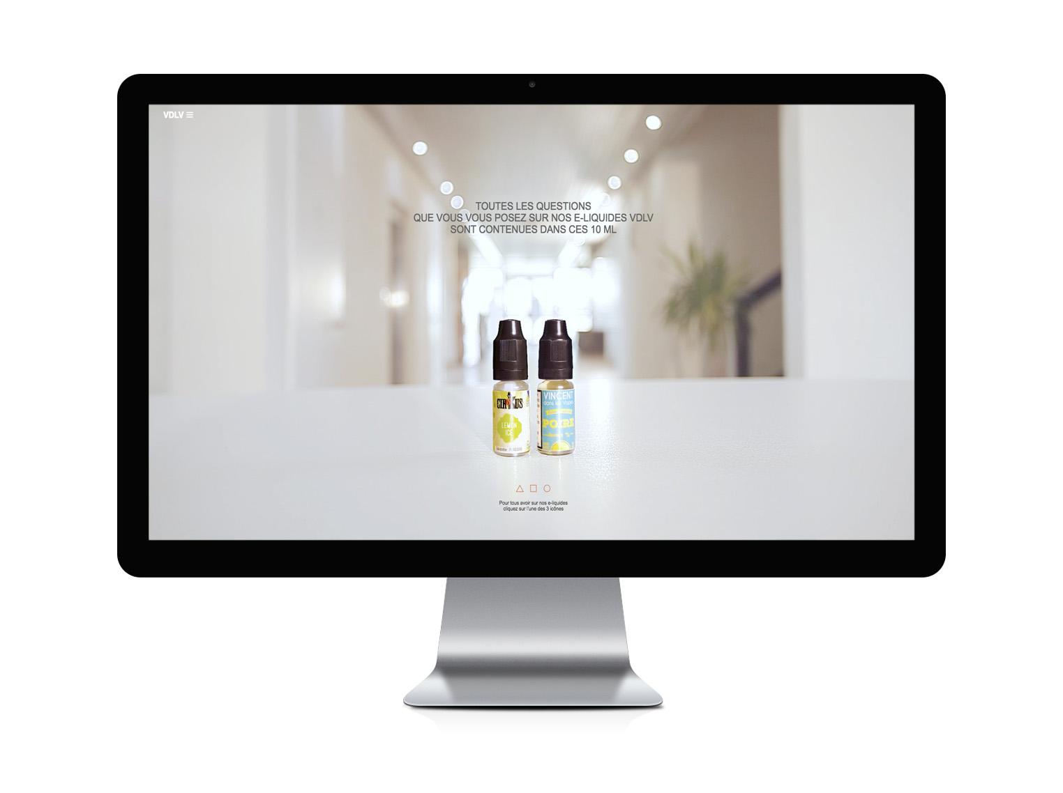 site web sensoriel VDLV réalisé par l'agence de communication ELEM NT